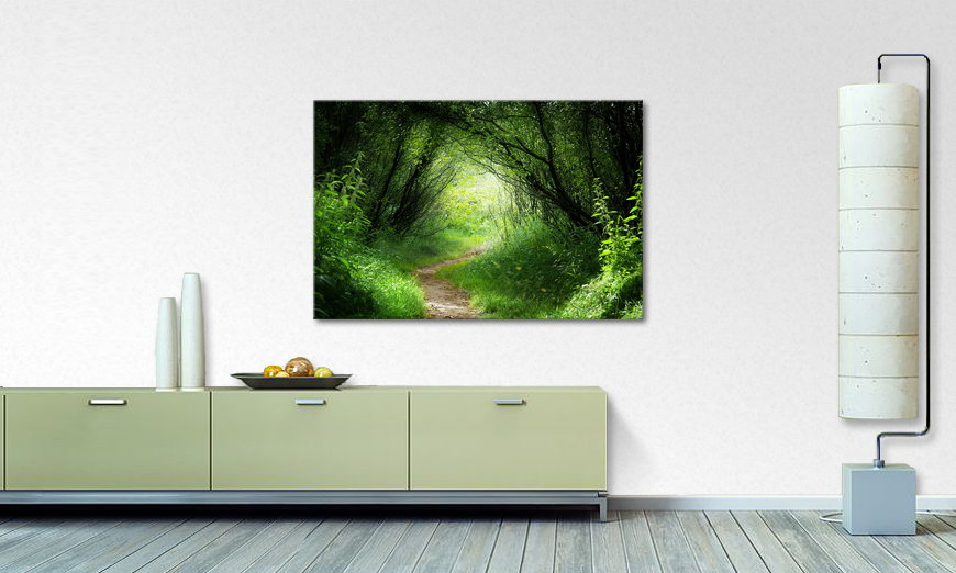 Limpression sur toile Way into the Forest