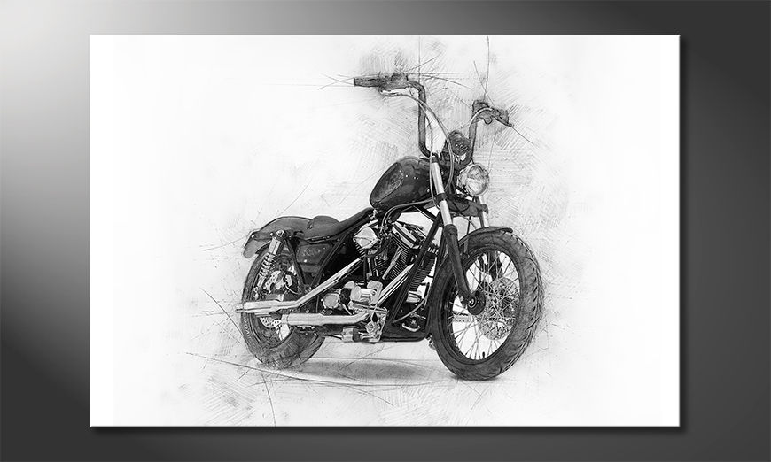 Toile-moderne-Classic-Motorcycle