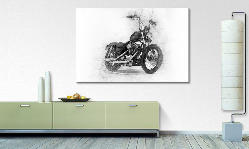 Toile moderne Classic Motorcycle