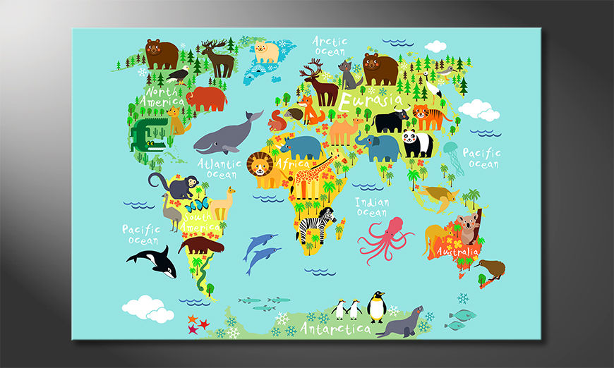 Toile moderne Colorful World