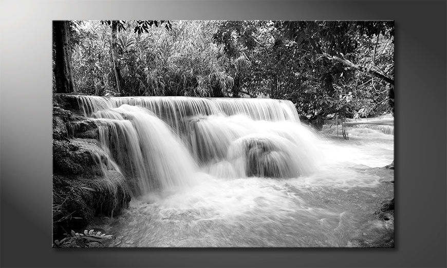 Toile moderne Waterfall In Jungle