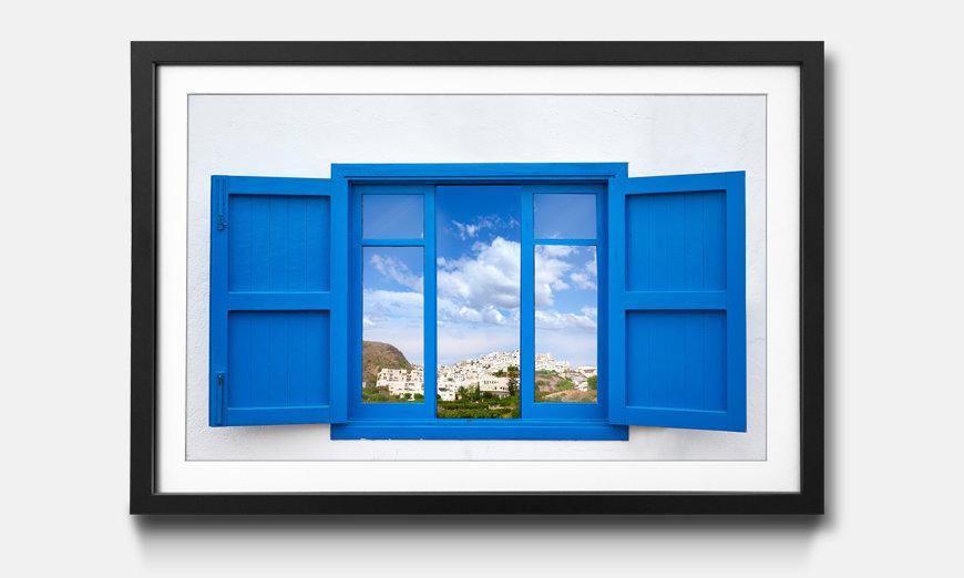 La reproduction encadrée Almeria View