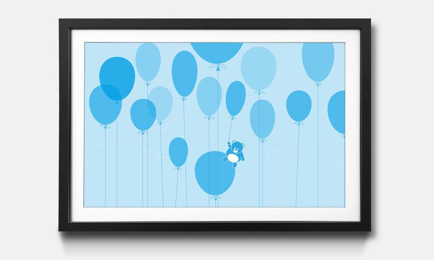 La reproduction encadrée Ballons