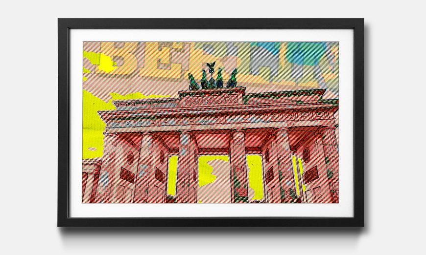 La reproduction encadrée Berlin