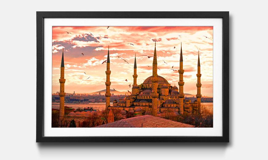 La reproduction encadrée Blue Mosque