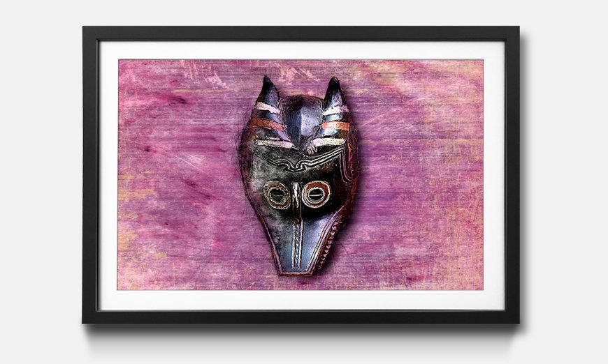 Le tableau encadré Afro Mask