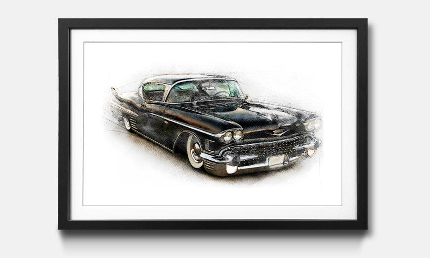 Le tableau encadré Black Cadillac
