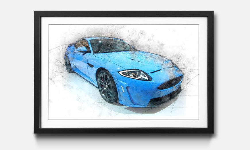 Le tableau encadré Blue Jag