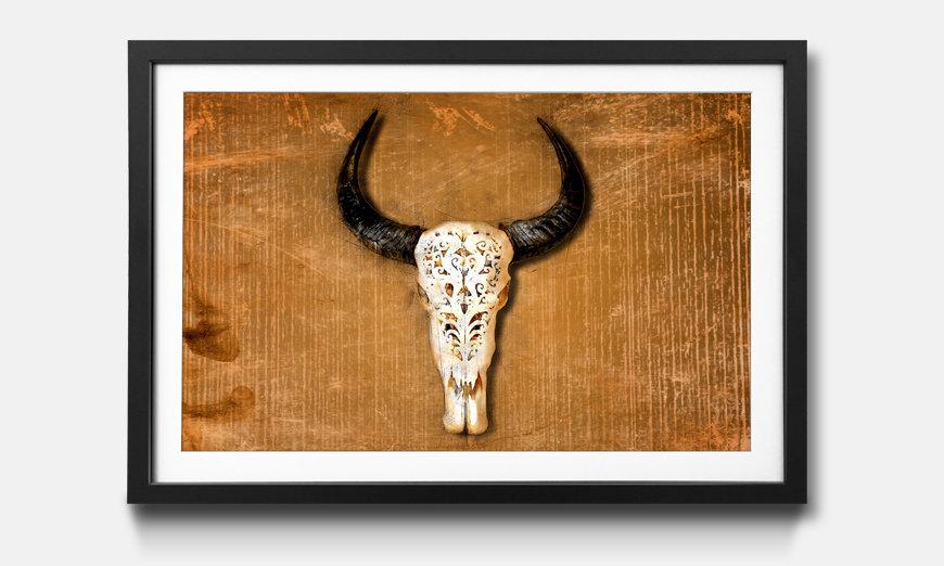 Le tableau encadré Buffalo Head