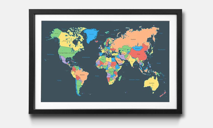 Le tableau encadré Colorful Map