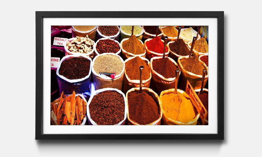 Le tableau encadré Colorful Spices