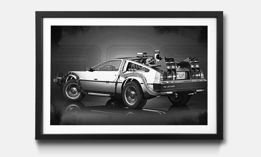 Le tableau encadré DeLorean