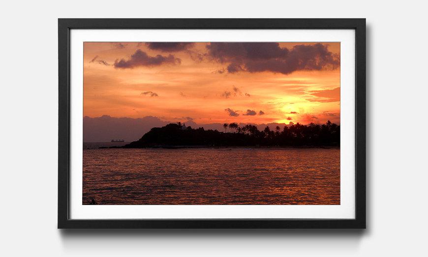L'impression encadrée Sri Lanka Sundown