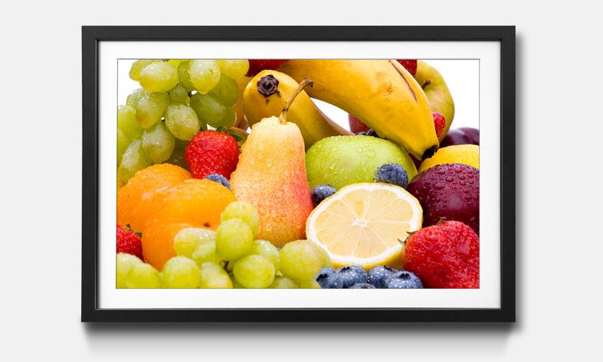 Reproduction encadrée: Fruits