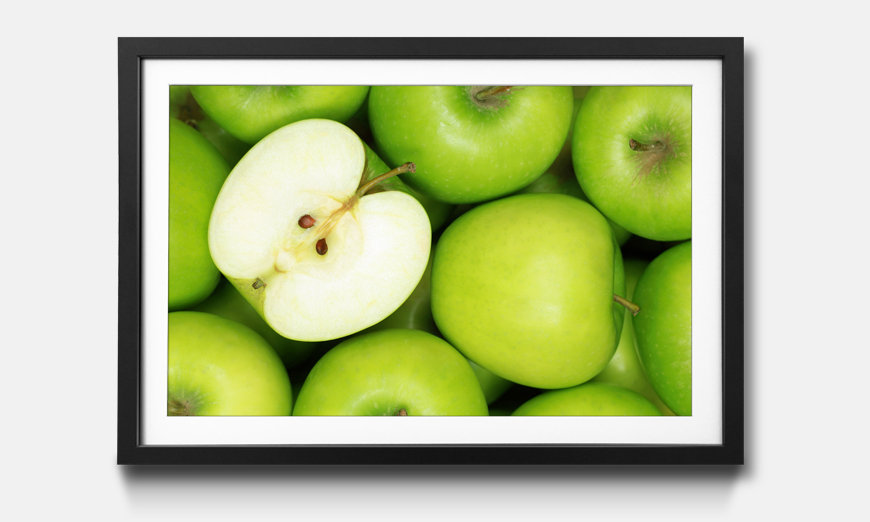 Reproduction encadrée: Green Apples
