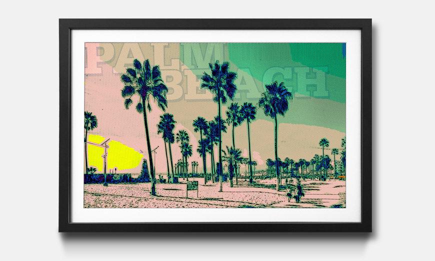 Reproduction encadrée: Palm Beach
