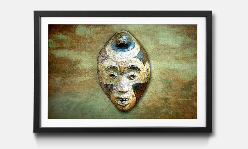 Tableau encadrée: Afro Head