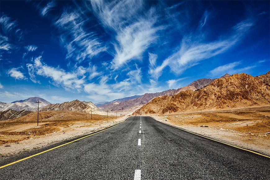 Intissé déco La route de l'Himalaya 120x80cm et plus