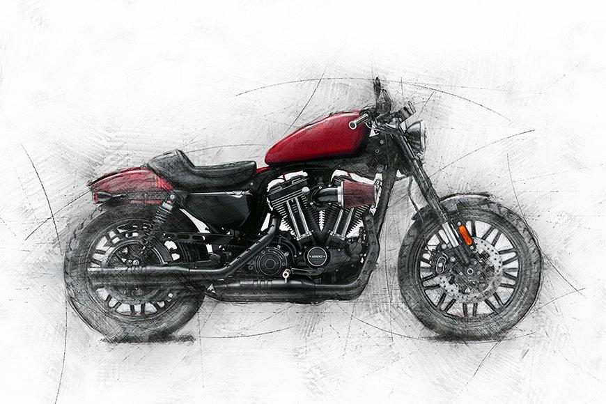 Intissé déco Motocycle Uno