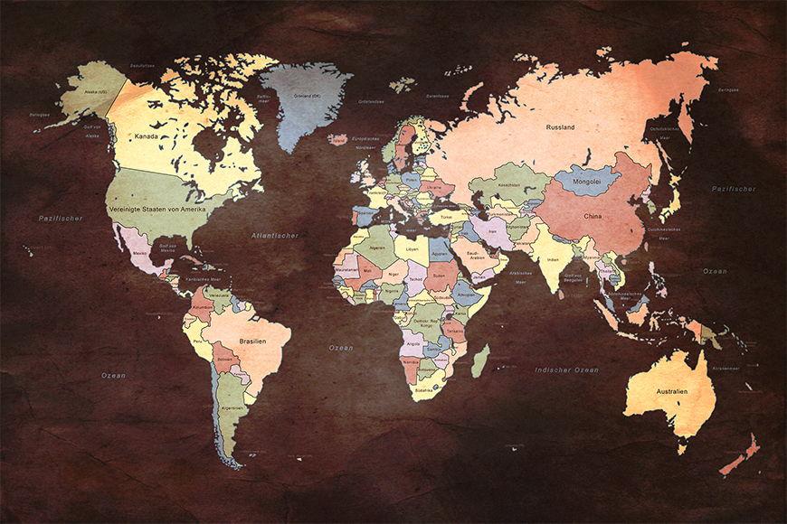 Intissé déco Old Worldmap 2 120x80cm et plus