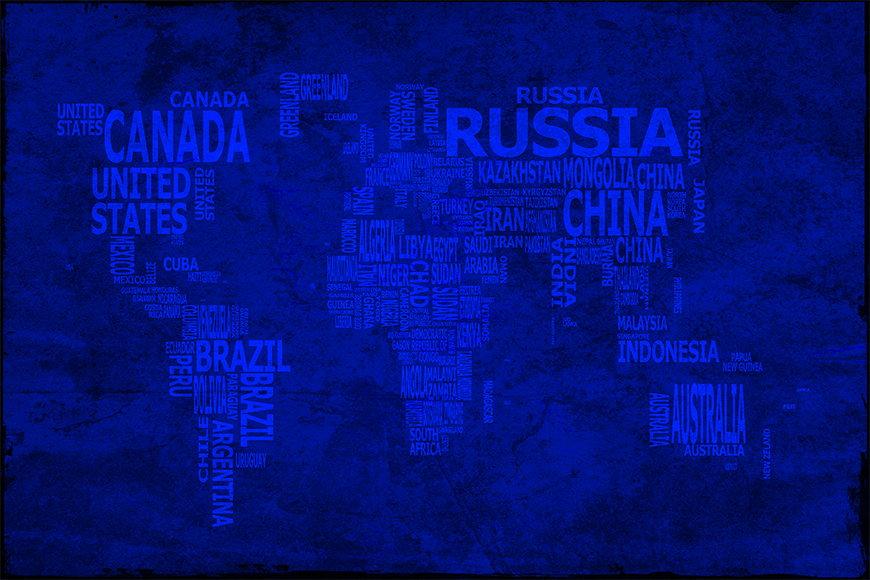 Papier intissé Carte du Monde 10 120x80cm et plus