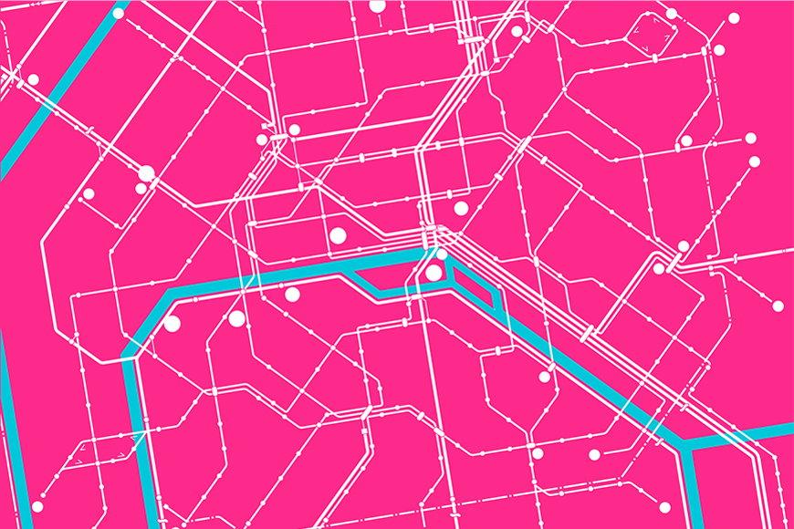 Papier intissé Métro Paris 120x80cm et plus