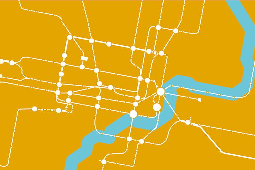 Papier intissé Métro Shanghai 120x80cm et plus