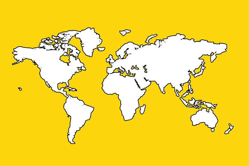 Papier intissé Map of the World 120x80cm et plus