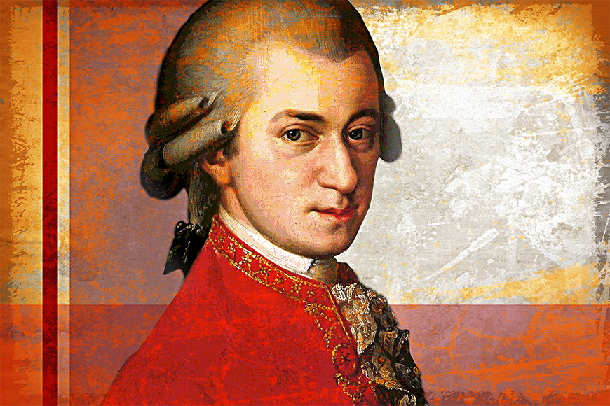 Papier intissé Mozart 120x80cm et plus