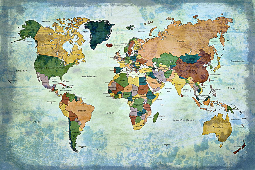 Papier intissé Old Worldmap 1 120x80cm et plus