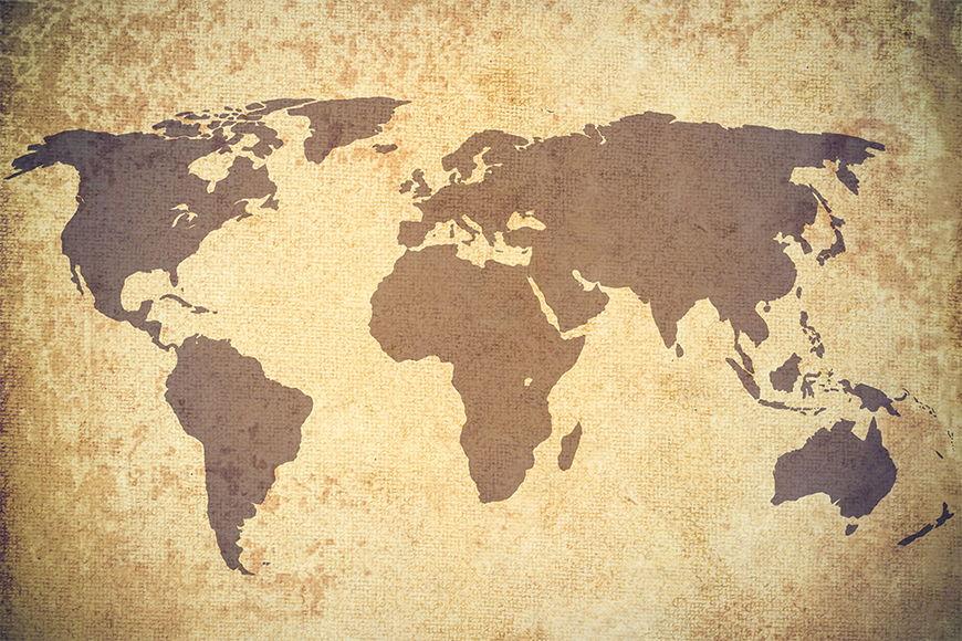 Papier intissé Vintage Worldmap 120x80cm et plus
