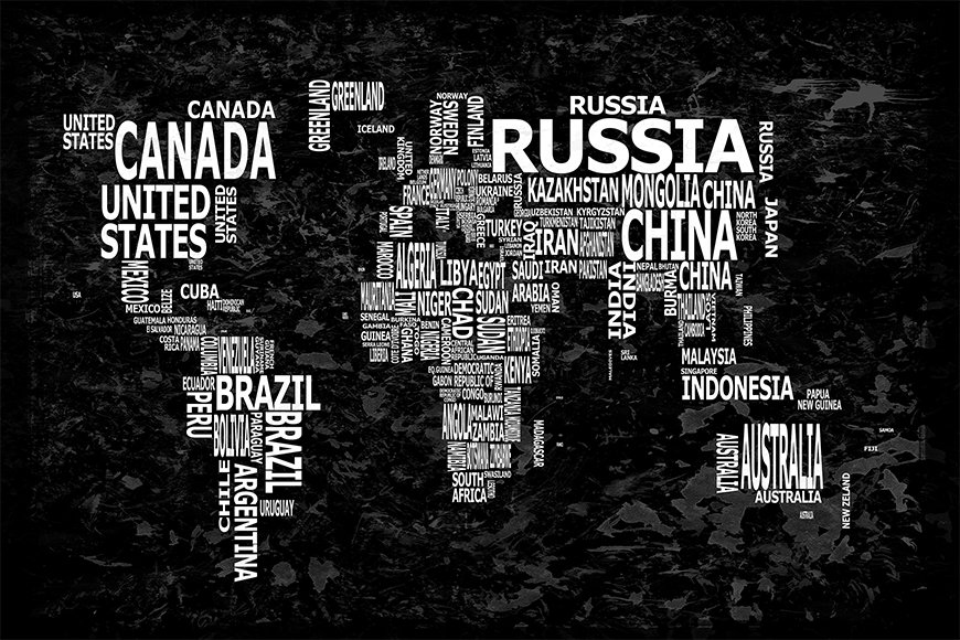 Papier intissé Worldmap 12 120x80cm et plus