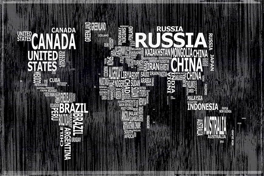 Papier intissé Worldmap 13 120x80cm et plus