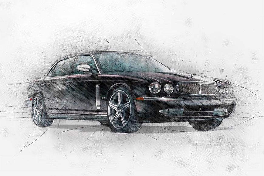 Papier peint Black Jag