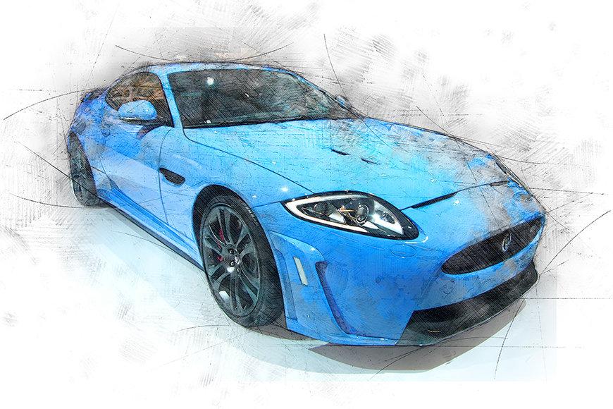 Papier peint Blue Jag