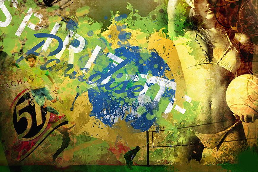 Papier peint Brésil 120x80cm et plus