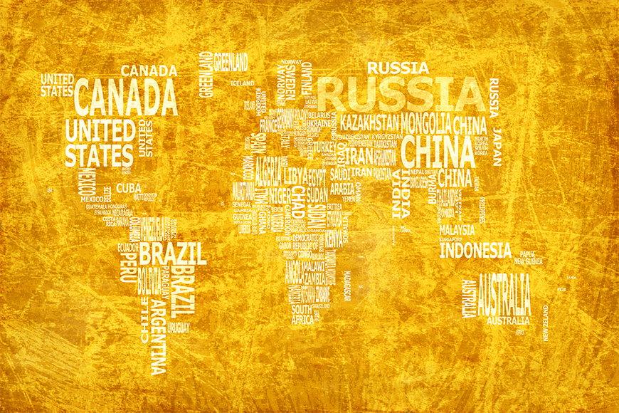 Papier peint Carte du Monde 15 120x80cm et plus