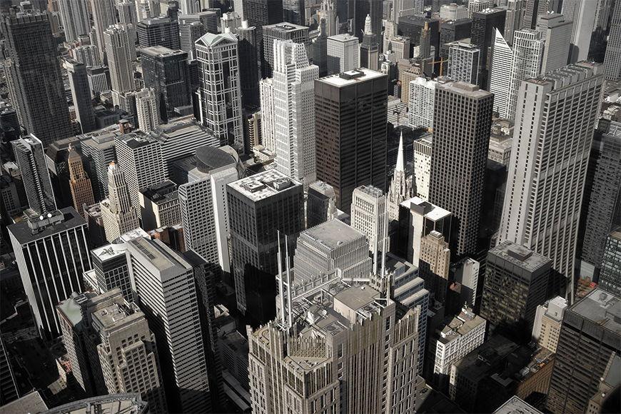Papier peint Chicago City 120x80cm et plus