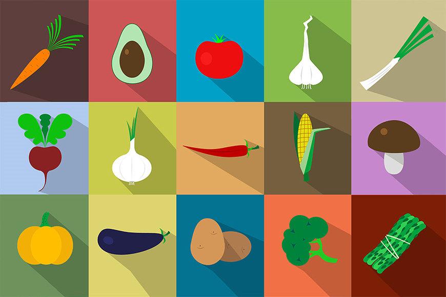 Papier peint Funny Vegetables