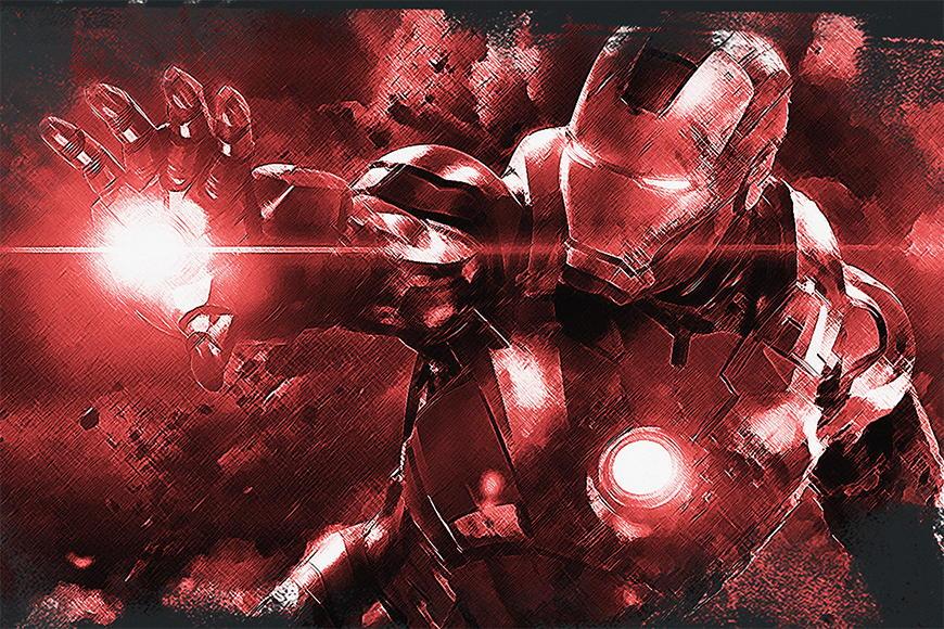 Papier peint Iron Man 120x80cm et plus