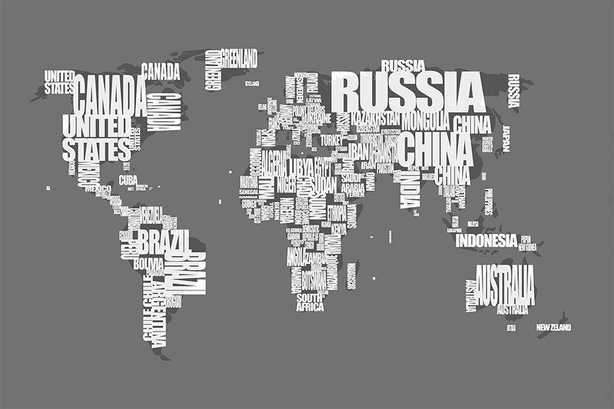 Papier peint Le Carte du Monde 11 120x80cm et plus