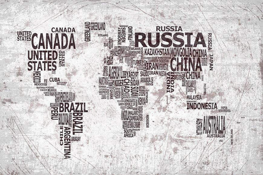 Papier peint Le Carte du Monde 22 120x80cm et plus
