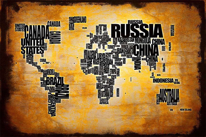 Papier peint Le Carte du Monde 5 120x80cm et plus