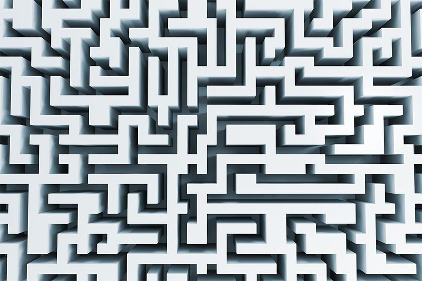 Papier peint Le labyrinthe 120x80cm et plus