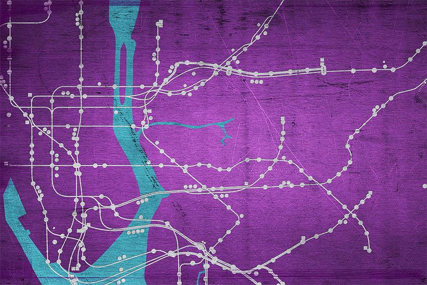 Papier peint Métro New York 120x80cm et plus