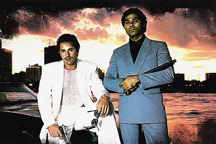 Papier peint Miami Vice 120x80cm et plus