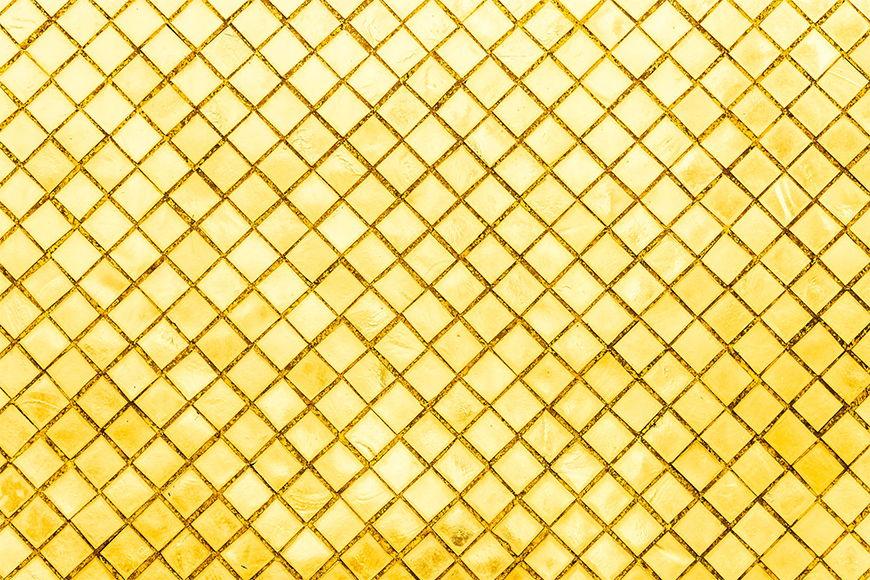 Papier peint Mosaïque dorée 120x80cm et plus