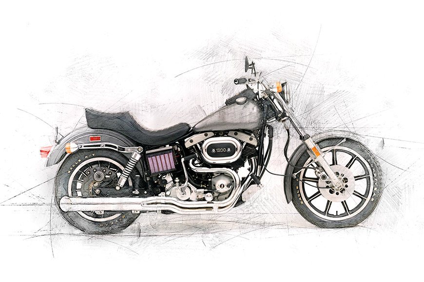 Papier peint Motocycle