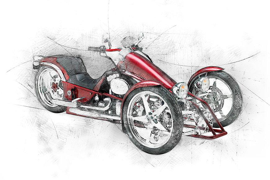 Papier peint Motocycle Five