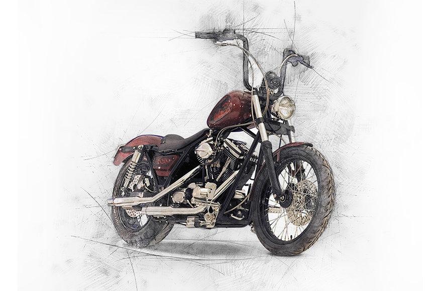 Papier peint Motorbike